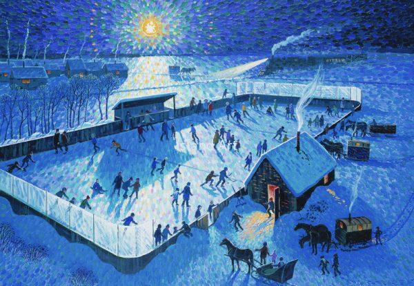 Bill Brownridge-Skating Rink By Moonlight