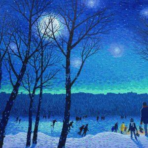 Bill Brownridge-Skating Under A Full Moon