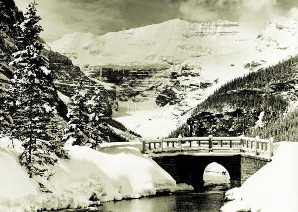 Bruno Engler-Stone Bridge at Lake Louise