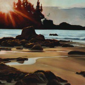 Gaye Adams-Last Light On Brady's Beach