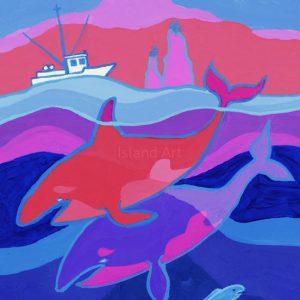 Ted Harrison-Northwest Coast Whales